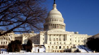 US Capitol Building in winter, Washington DC, USA