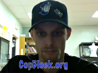 Screenshot from YouTube channel TheCopBlock