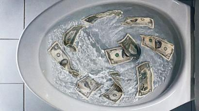 The US dollar's worth could be going down the drain.