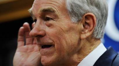 Republican presidential candidate Rep. Ron Paul (R-TX) speaks at a town hall meeting at the Erickson Public Library during a campaign stop on December 8, 2011 in Boone, Iowa. (Kevork Djansezian/Getty Images/AFP)