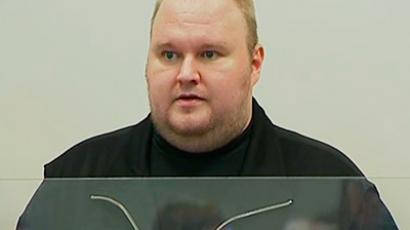 The founder of file-sharing website Megaupload Kim Dotcom, a German national also known as Kim Schmitz, is seen at court in Auckland in this still image taken from video January 23, 2012 (Reuters / TV3 via Reuters Tv)