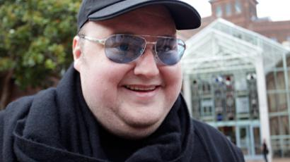 Megaupload founder Kim Dotcom talks to members of the media as he leaves the High Court in Auckland February 29, 2012 (Reuters/Simon Watts)