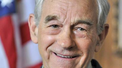 United States, Des Moines: Republican Texas Rep. Ron Paul announces to supporters that he's forming a campaign exploratory committee, as he decides whether or not to seek the Republican nomination for president, on April 26, 2011 at the airport Holiday Inn in Des Moines, Iowa. (AFP Photo / Steve Pope)