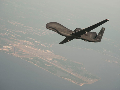 RQ-4 Global Hawk unmanned aerial vehicle  (Reuters)