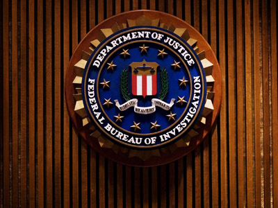 A crest of the Federal Bureau of Investigation (AFP Photo/Mandel Ngan)