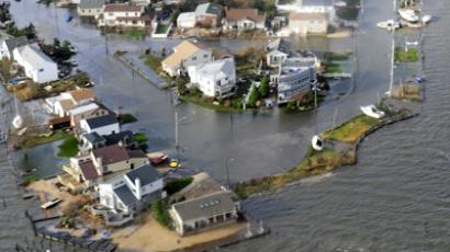 Flooding from Hurricane Sandy can be seen in this aerial U.S. Coast Guard handout photo showing Long Island, New York, October 30, 2012. (Reuters)
