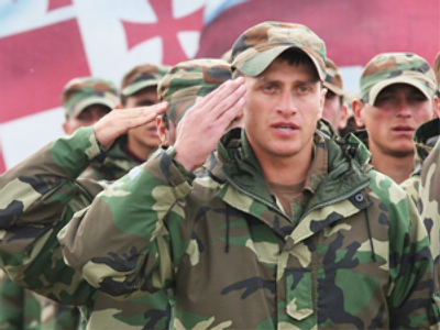 Georgian soldiers become political asset