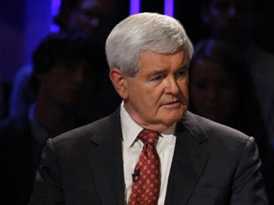 Newt Gingrich, former U.S. Speaker of the House, speaks during a presidential debate sponsored by Bloomberg and The Washington Post held at Dartmouth College in Hanover, New Hampshire, U.S., on Tuesday, Oct. 11, 2011 (AFP Photo / Scott Eells)