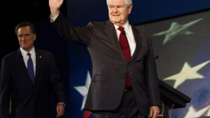 Spartanburg: Republician presidential hopeful Newt Gingrich. (AFP Photo/Paul J. Richards)