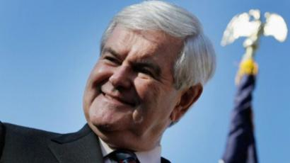 Republican presidential candidate, former Speaker of the House Newt Gingrich speaks during a Lakeside Inn Tea Party Rally on January 26, 2012 in Mount Dora, Florida (Joe Raedle / Getty Images / AFP)