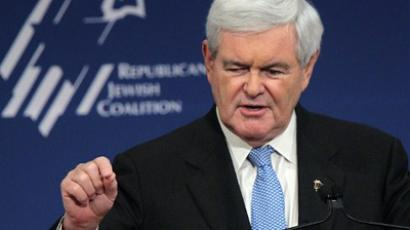 Republican Presidential hopeful and former speaker of the House Newt Gingrich (AFP Photo / Alex Wong)