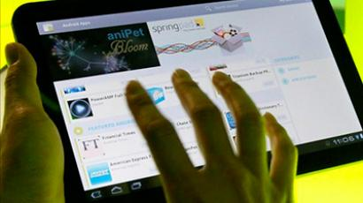 Google's Android 3.0 Honeycomb OS is demonstrated on a Motorola Xoon tablet during a press event at Google headquarters (Justin Sullivan / Getty Images / AFP)