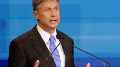 New Mexico Gov. Gary Johnson (AFP Photo /  Phelan M.)
