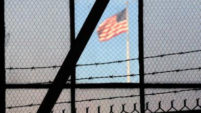 The US flag flies over the war crimes courtroom in Camp Justice in this photo taken at the US Naval Base inGuantanamo Bay, Cuba.(AFP Photo / Michelle Shephard)
