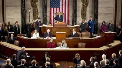 The opening session of the 113th US House of Representatives at the US Capitol in Washington. (AFP Photo / Saul Loeb)