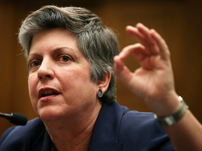 U.S. Homeland Security Secretary Janet Napolitano.(AFP Photo / Alex Wong)