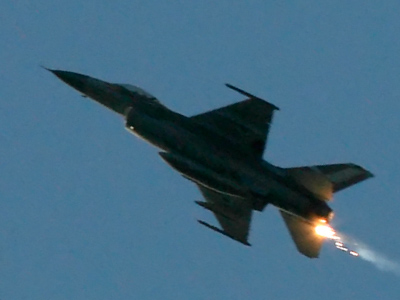 An Israeli F-16 fighter jet (Reuters/Nikola Solic)