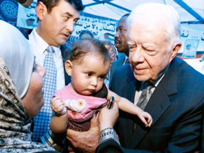 Jimmy Carter says Russian Israelis want peace