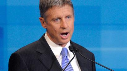 Gary Johnson (AFP Photo / Pool / Phelan M. Ebenhack)