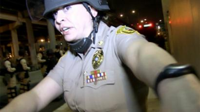 Major Nancy Perez was photographed by Miller shortly before she arrested him on January 2. Image from pixiq.com