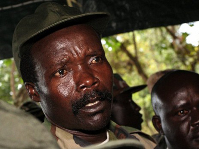 A file picture taken on November 12, 2006 of then leader of the Lord's Resistance Army (LRA) Joseph Kony answering journalists' questions at Ri-Kwamba, in Southern Sudan (AFP Photo/Pool - Stuart Price/Files)