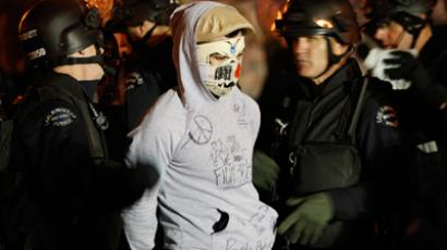 Activist arrested for wearing 'Occupy Everything' jacket