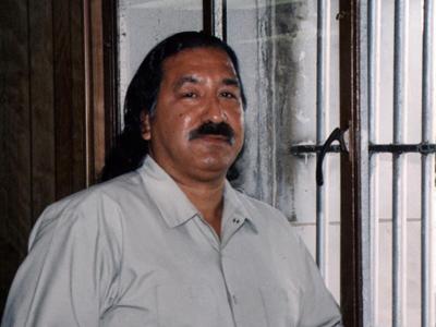 Leonard Peltier in solitary confinement