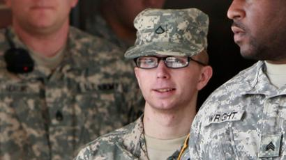 Bradley Manning is escorted from the courthouse at Fort Meade (REUTERS/Yuri Gripas)