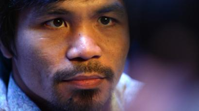 Boxer Manny Pacquiao (AFP Photo / Stan Honda)