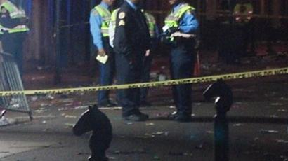 Police officers at the scene of the shooting on Bourbon Street, New Orleans. (Image from Twitter/@MHernandezWWL)
