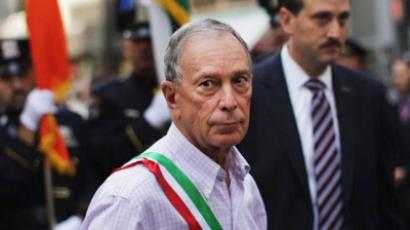 New York Mayor Michael Bloomberg walks along the route during the 67th annual Columbus Day Parade on October 10, 2011 in New York City (Spencer Platt / Getty Images / AFP)