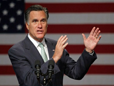 Republican presidential candidate, former Massachusetts Gov. Mitt Romney (Bill Pugliano / Getty Images / AFP)