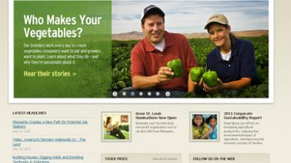 Screenshot from monsanto.com
