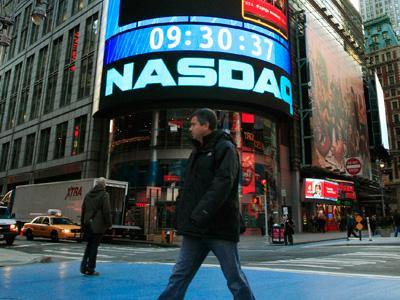 Nasdaq Market Site in New York's Times Square. (REUTERS/Brendan McDermid)
