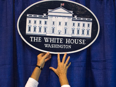 The White House Logo.(Reuters / Adrees Latif)