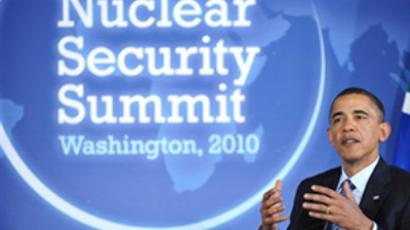 US President Barack Obama on the Nuclear Security Summit on April 11, 2010 in Washington (AFP Photo / Mandel Ngan)