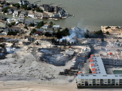 The view the Hurricane Sandy damage in New Jersey, on October 31, 2012. (AFP Photo / Doug Mills)