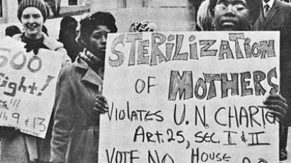 Eugenics Protest circa 1971 originally published by Southern Conference Educational Fund (SCEF)