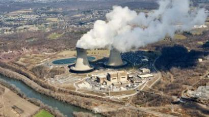 US, Pottstown: An aerial view of the Limerick Generating Station, a nuclear power plant in Pottstown, Pennsylvania, March 25, 2011. (AFP Photo/Stan HONDA)