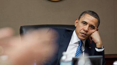 President Barack Obama in the Situation Room of the White House. (Official White House Photo by Pete Souza)