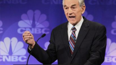 U.S. Rep. Ron Paul (R-TX) speaks. (Scott Olson/Getty Images/AFP)
