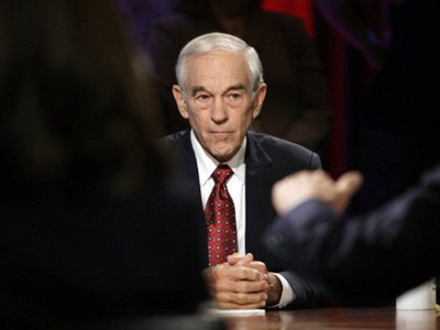 Ron Paul, a Republican representative from Texas, listens during a presidential debate sponsored by Bloomberg and The Washington Post held at Dartmouth College in Hanover, New Hampshire, U.S., on Tuesday, Oct. 11, 2011 (AFP Photo / Pool / Scott Eells)