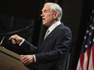 Republican Presidential Candidate Ron Paul speaks to a gathering of conservative Christians at the Iowa Faith & Freedom Coalition Presidential Forum on October 22, 2011 in Des Moines, Iowa (Scott Olson / Getty Images / AFP)