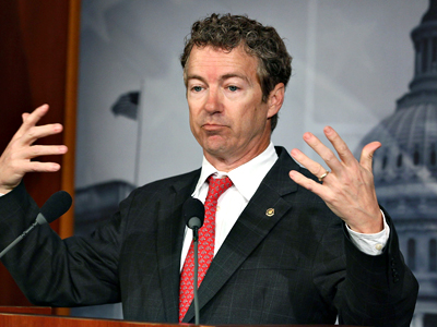 United States, Washington: Rand Paul talks about Medicare during a news conference on Capitol Hill March 15, 2012 in Washington, DC.  (AFP Photo / Mark Wilson)