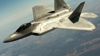 A F-22 Raptor fighter jet flies in a training mission during Red Flag 12-3 over the Nevada Test and Training Range in this March 13, 2012 handout photo courtesy of the U.S. Air Force (Reuters/U.S. Air Force/Staff Sgt. Christopher Hubenthal/Handout)