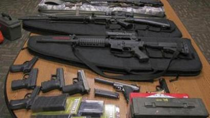 Weapons gathered from the home and vehicle of Timothy Courtois (Maine State Police)