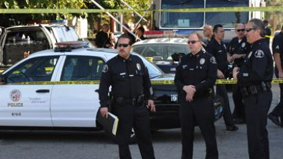 LAPD officers (AFP Photo/Mark Ralston)