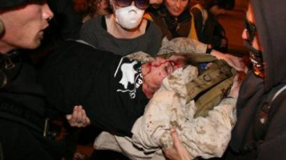 Protester shot by cops at Occupy Oakland General Strike (VIDEO)