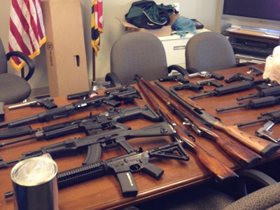 Arsenal found by Prince Goeorge County Police in suspect's home