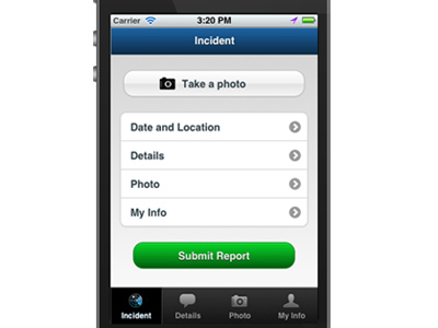 The  Suspicious Activity Reporting Mobile application